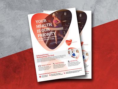 Flyer Design For Medical Services flyer gym fitness exercise cardio health medical