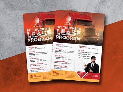 Corporate Flyer For Lease Program flyer design car finance showroom truck lease services