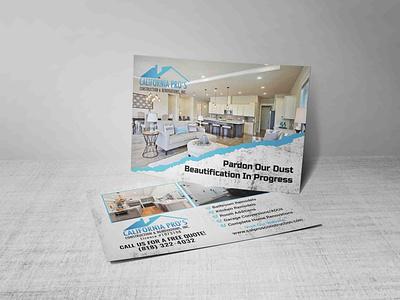 Postcard Design For House Decorating flyer postcard cleaning house construction house decoration real estate
