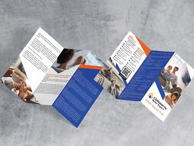 Z Fold Brochure For Boiler Service brochure z fold electrician services plumbing boiler services
