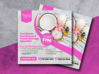 Flyer Design For Spa Services beauty product skin care facebook instagram social media flyer beauty salon salon spa