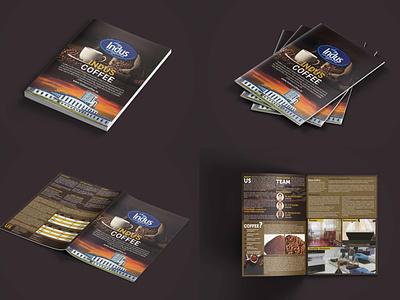 Bi-Fold Brochure Design For Indus Coffee Manufacturing caffe coffee brochure bi-fold. coffee shop coffee