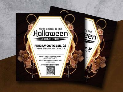 Social Media Post Design post social media party halloween flyer design