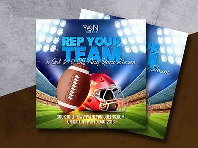 Flyer Design For Football post design social media sport flyer flyer design football