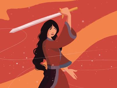 Mulan mulan disney art vector illustration