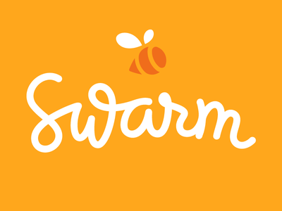 Swarm logomark swarm foursquare mrdavenport bee hive buzz orange