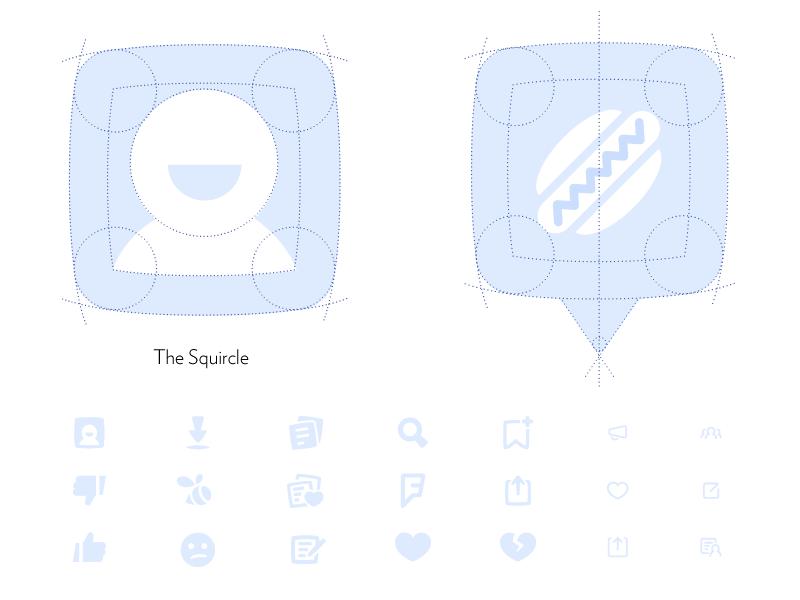 Foursquare Iconography foursquare iconography squircle hot dog icon mrdavenport