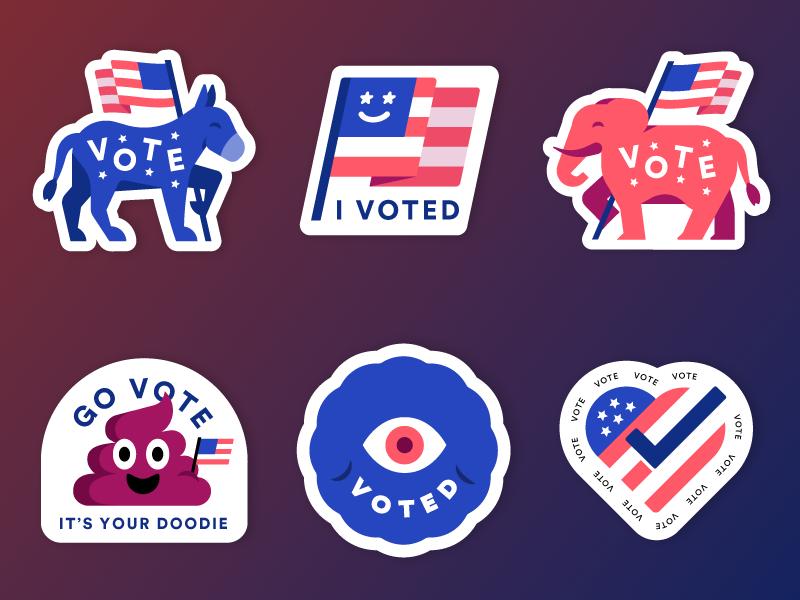 Vote Stickers vote election mrdavenport stickers