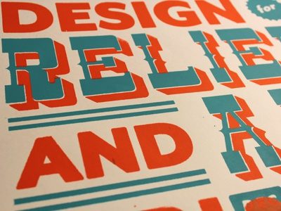 Design for Relief and Aid: Screen Print design for relief and aid ncsu college of design graphic design senior studio iconography screen print typography hand drawn
