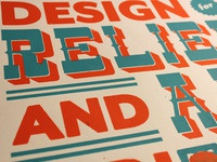 Design for Relief and Aid: Screen Print