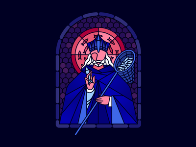 Patron Saint of Anchovy Pizza branding illustration restaurant saint pizza stained glass fish sardines toppings