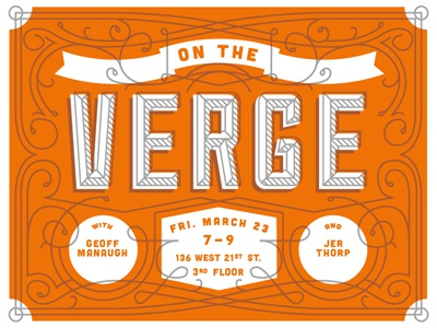 On The Verge school of visual arts poster lecture promotional geoff manaugh jer thorp mrdavenport interaction design