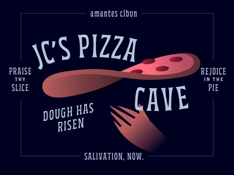 JCPC restaurant pizza cave branding pizza box jcpc