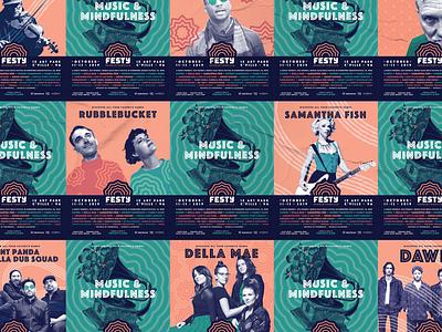 The Festy — Posters mrdavenport branding design music dawes print branding poster music festival the festy