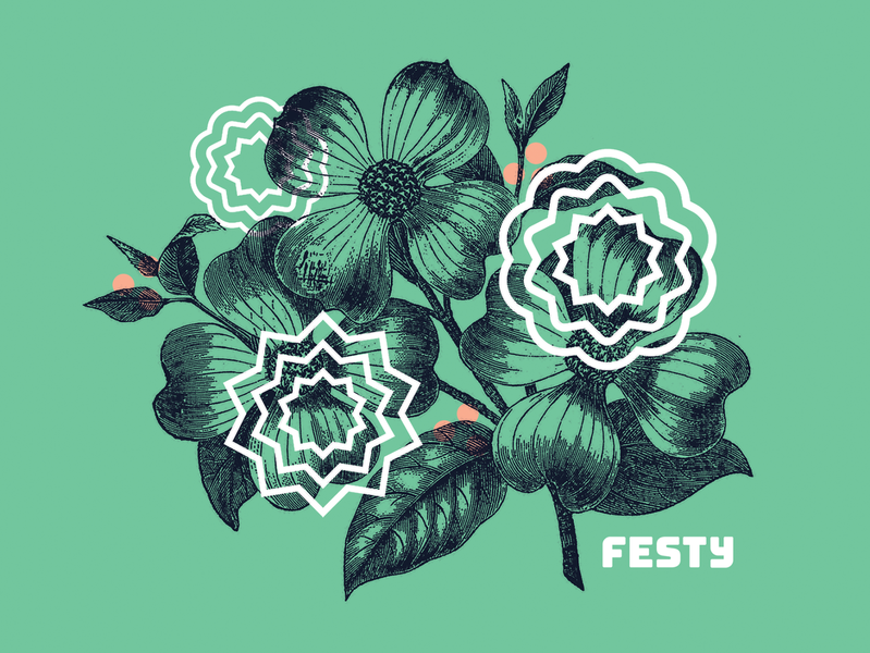 The Festy — Illos vintage illustration music festival