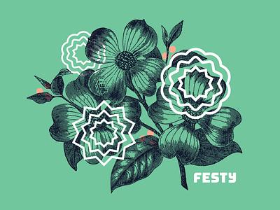 The Festy — Illos vintage illustration music festival