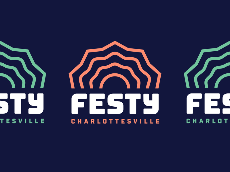 The Festy — Logo wordmark music festival music logo design branding logo