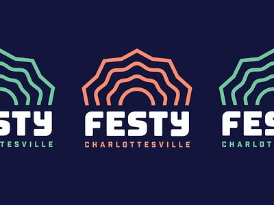 The Festy — Logo wordmark music festival music logo design branding logo