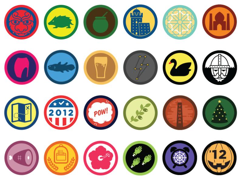 Badge da collezione di Foursquare