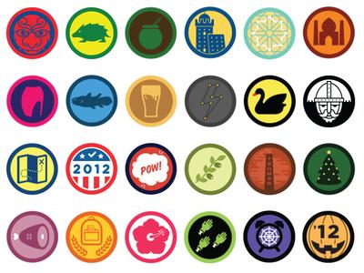6 Months of Foursquare Badges
