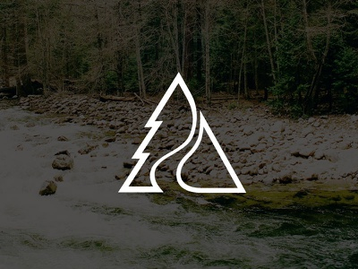 Season Search Logo R3 logo icon branding tree fishing hunting nature triangle
