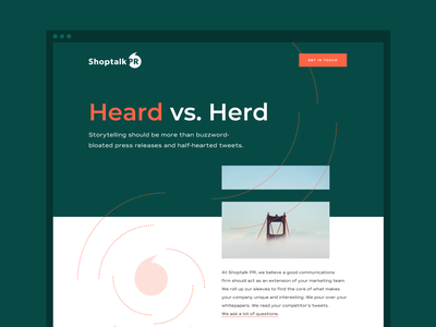 Shoptalk PR Website small business san francisco marketing webflow website design design communication brand