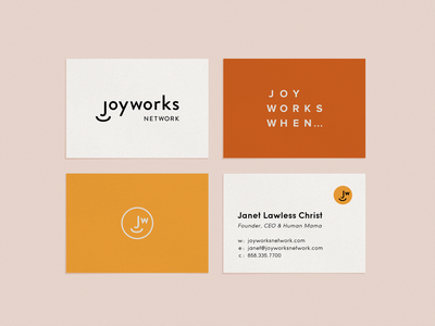 Joyworks Business Cards business card design business cards branding logo design brand