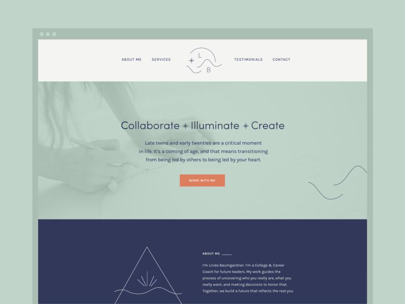 Website Mockup for LB web design website logo branding brand