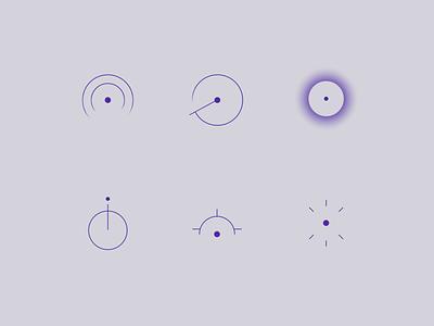Logomark Exploration logomark touch sonar precision pinpoint logo design brand branding
