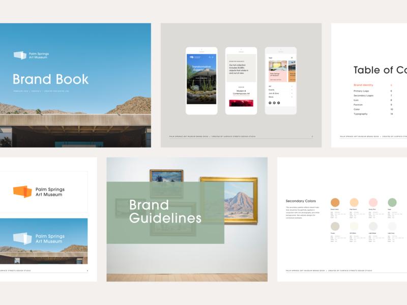 Palm Springs Art Museum Brand Guidelines brand guidelines logo design branding brand