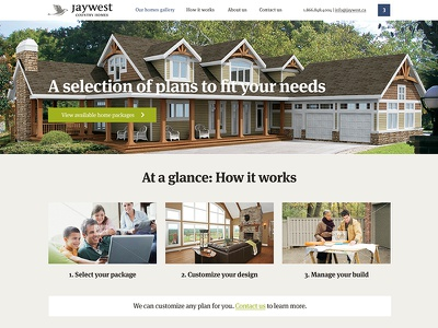 JayWest Country Homes goes responsive web design website responsive home builder houses construction properties flat simple colourful meta serif