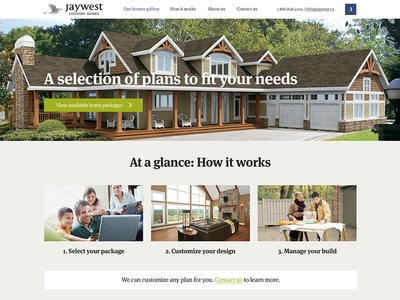 JayWest Country Homes goes responsive