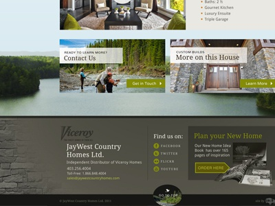 Home Site Footer home builder web design footer