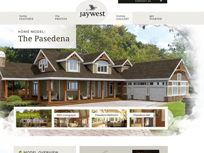 Heading area for page of home site home builder web design slideshow slider header navigation