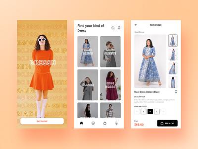 DRESSH - Fashion Store App fashion mobile ui