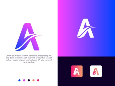 A moderm logo branding convert logo redesign illustration typography logo design flat vector minimalist modern