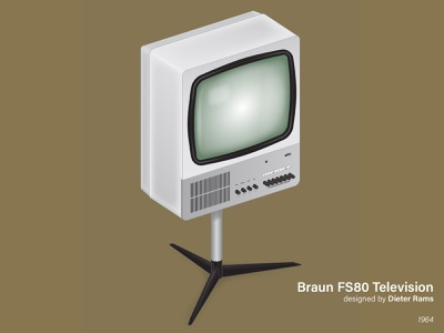 Dieter Rams Braun FS80 Television tv television product design industrial design isometric illustration dieterrams dieter rams dieter rams braun art direction nittygritty design illustration
