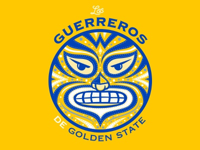 Latino Heritage Night at Golden State 2 mexican luchador guerreros latino golden state warriors basketball golden warriors art direction design nittygritty illustration