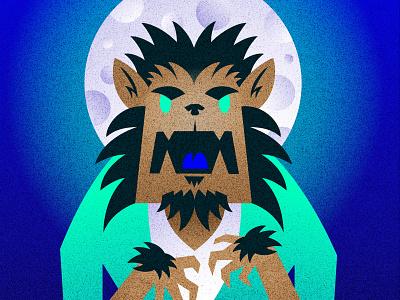 Happy Halloween Wolfman wolfman halloween design illustration nittygritty