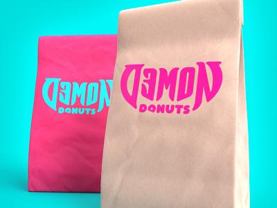 Demon Donuts Bags demon donuts packaging art direction branding design nittygritty