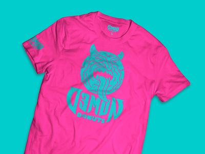 Demon Donuts T-shirt Designs devil donuts demon tshirts logo clothing art direction branding illustration design nittygritty