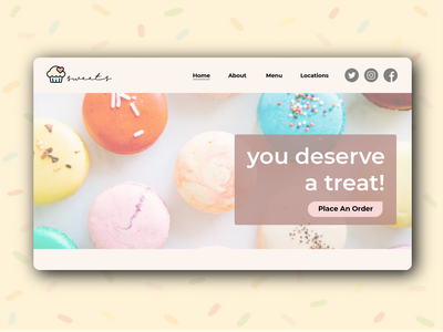 Landing Page Bakery ui illustrator home screen home page landing page homepage landingpage website web illustration minimal design dailyuichallenge dailyui