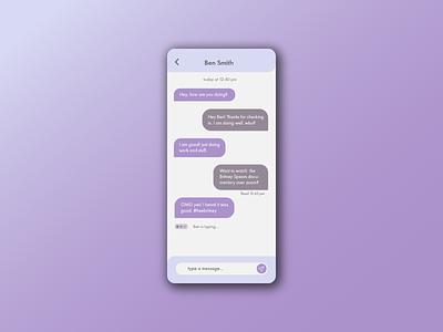 Direct Message ux design chat talk message app messages 013 messager message direct messaging cute ui mobile app minimal illustrator illustration design dailyuichallenge dailyui