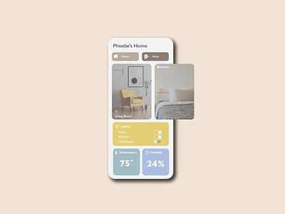 Home Monitoring Dashboard analytics house rooms simple dashboard ui data dashboard home smart ui mobile app minimal illustrator illustration design 021 dailyuichallenge dailyui