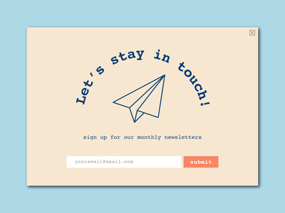 Subscribe newsletter email button subscribe button 026 subscribe popup web cute ui app minimal illustrator illustration design dailyuichallenge dailyui
