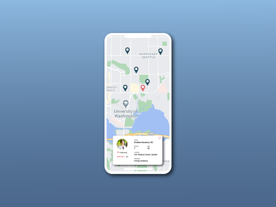 Map find match search medical doctor google maps simple mobile ui app minimal illustrator illustration design map 029 dailyuichallenge dailyui