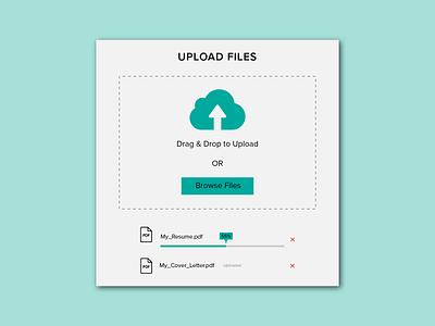 File Upload simple 031 computer pdf cloud drag and drop upload file upload file ui website web cute app minimal illustrator illustration design dailyuichallenge dailyui