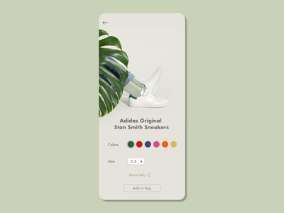 Customize Product shopify shopping cart size colors shopping app simple sneakers shoes product customize shopping shop mobile minimal design 033 dailyuichallenge dailyui