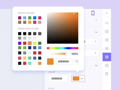 Website builder. Settings editor builder settings webdesign 007 dailyui animation web app ux ui