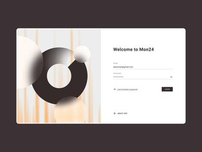 Mon24. Web App minimalism abstract dropdown calendar grid interface login monitoring server adobexd chart dashboard webdesign interaction icon animation web app ux ui